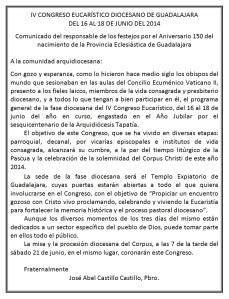 Programa Congreso Eucarístico