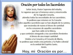 JESÚS - oración por los sacerdotes - SUMO Y ETERNO SACERDOTE