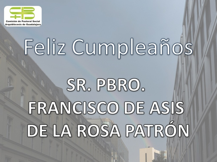 Felicitación Padre Francisco