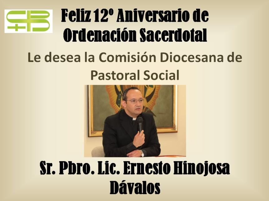 Felicitación Pbro. Ernesto