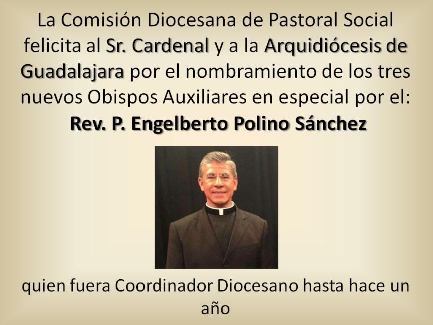 Felicitación Rev. P. Engelberto